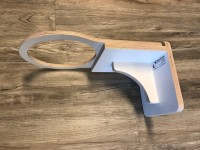 Witte verstelbare wandbeugel bubbelunit, ø 20 cm