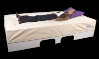 Waterbed Basis incl. onderbouw in wit MDF 130 x 240 x 50 cm excl. hoes