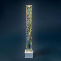 Blacklight bubbelunit ø 20 cm, h 170 cm, UV (40L), vierkante voet (29 x 29 x 20 cm)