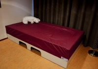 Muziek-tril waterbed Basis, 180 x 240 x 50 cm met tilliftuitsparing excl. hoes