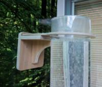 Houten verstelbare wandbeugel bubbelunit, ø 15 cm